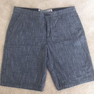Tailored Fit Black & Grey Shorts